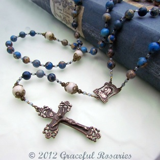 bronze rosary parts